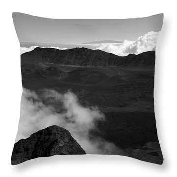 Haleakala B/w Throw Pillow