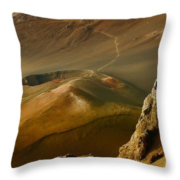 Haleakala Caldera Throw Pillow