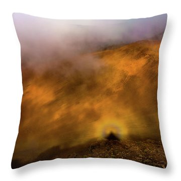 Throw Pillow featuring the photograph Haleakala Halo by M G Whittingham