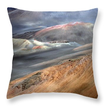 Haleakala, Maui II Throw Pillow