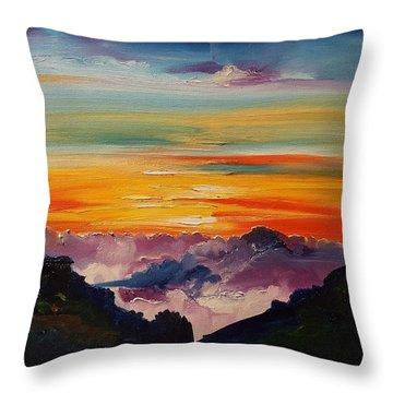 Haleakala Volcano Sunrise In Maui      101 Throw Pillow