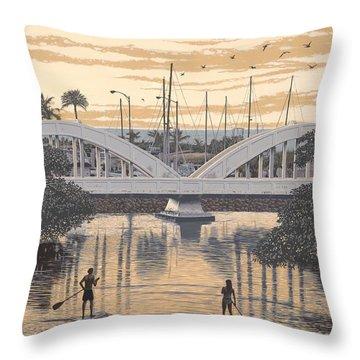Haleiwa Bridge Throw Pillow