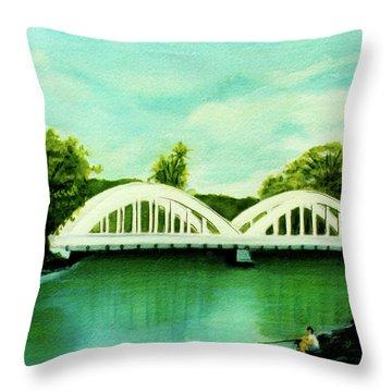 Haleiwa Bridge North Shore Oahu Hawaii #95 Throw Pillow by Donald k Hall