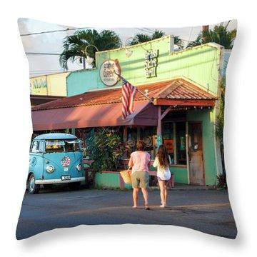 Hale'iwa Shops Throw Pillow