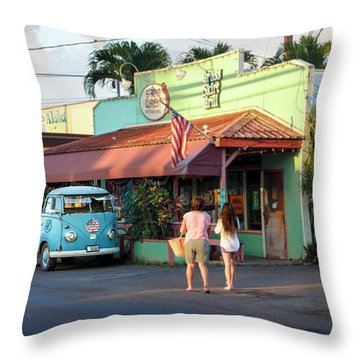 Hale'iwa Shops Throw Pillow