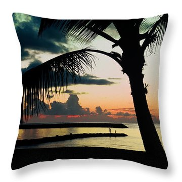 Haleiwa Throw Pillow by Steven Sparks