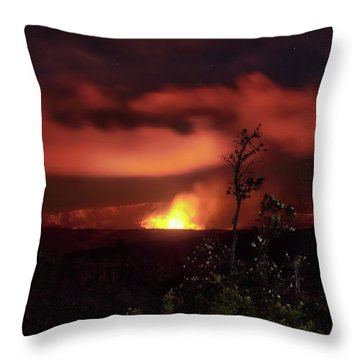 Halemaumau Crater Throw Pillow
