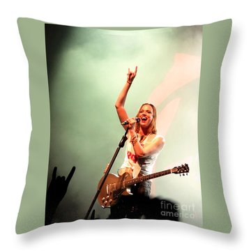 Halestorm Lzzy Hale Throw Pillow