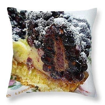 Half A Blackberry Tart Throw Pillow