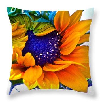 Half-awake Throw Pillow by Gwyn Newcombe