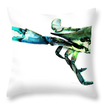 Half Crab - The Left Side Throw Pillow