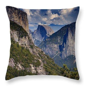 Half Dome And El Capitan Throw Pillow by Rick Berk