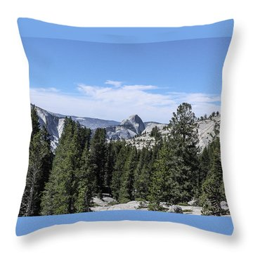 Half Dome From Olmstead Point Yosemite Valley Yosemite National Park Throw Pillow