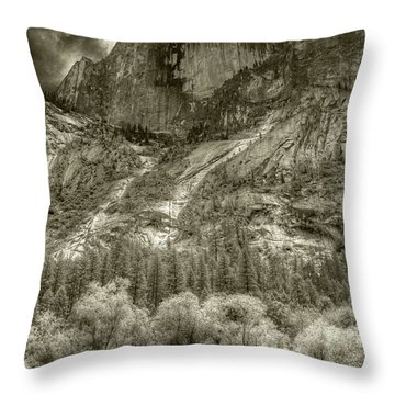 Half Dome Over Mirror Lake Throw Pillow