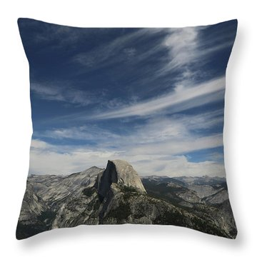Half Dome Sky Throw Pillow