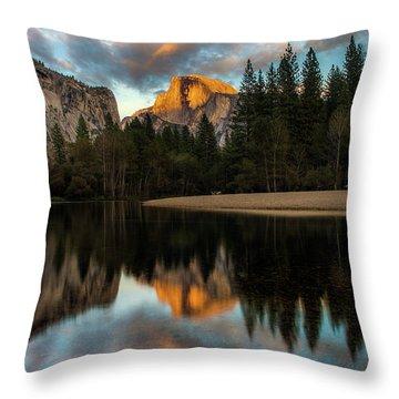 Half Dome Sunset Glow Throw Pillow