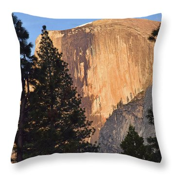 Half Dome Sunset Throw Pillow