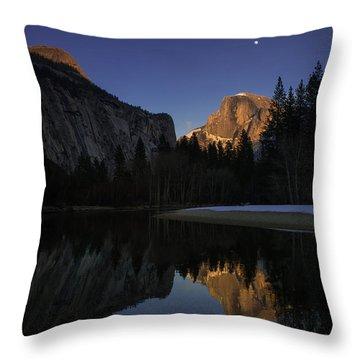 Half Dome, Twilight Throw Pillow