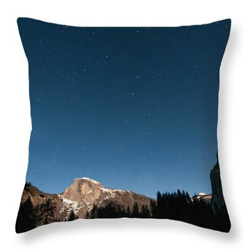Half Dome Under The Stars Throw Pillow