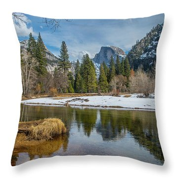 Half Dome Vista Throw Pillow