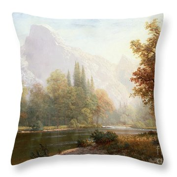Half Dome Yosemite Throw Pillow