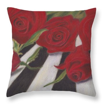 Throw Pillow featuring the painting Half Dozen Red by Arlene Crafton