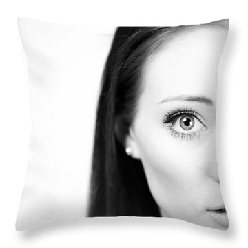 Lip Piercing Throw Pillows