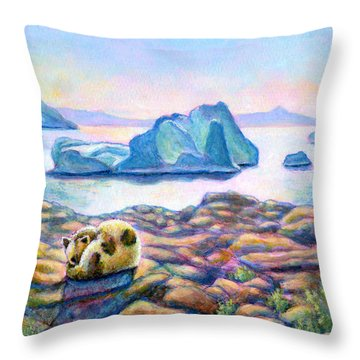 Half Hidden Throw Pillow by Retta Stephenson