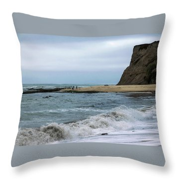 Half Moon Bay 5 Throw Pillow