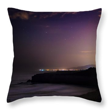 Half Moon Bay Aglow Throw Pillow