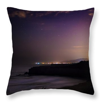 Half Moon Bay Aglow Throw Pillow