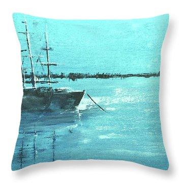 Half Moon Harbor Throw Pillow