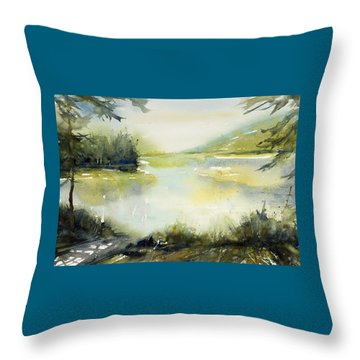 Half Moon Pond Throw Pillow