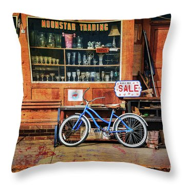 Throw Pillow featuring the photograph Half Off Sale Bicycle by Craig J Satterlee