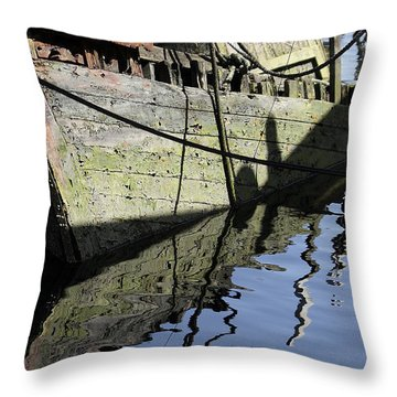 Half Sunk Boat Throw Pillow