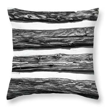 Half-timbered Wall Throw Pillow by Bill Mock