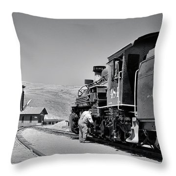 Half Way Throw Pillow