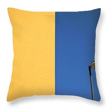 Half Yellow Half Blue Throw Pillow