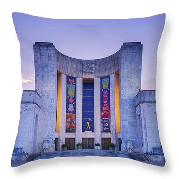 Hall Of State Texas Throw Pillow