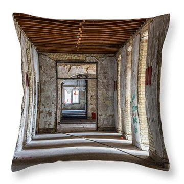 Hall To Patient Rooms Throw Pillow