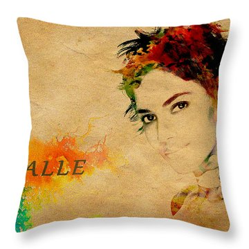 Halle Berry  Throw Pillow