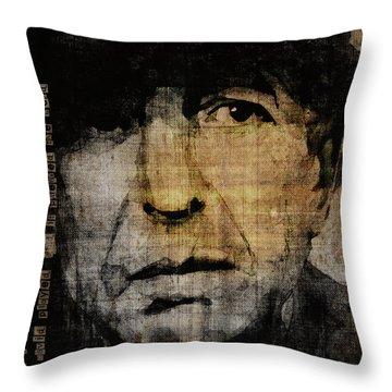 Hallelujah Leonard Cohen Throw Pillow