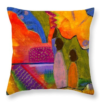Hallelujah Praise Throw Pillow by Angela L Walker