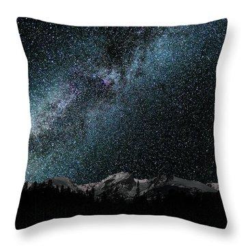 Hallet Peak - Milky Way Throw Pillow