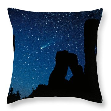 Halley's Comet Throw Pillow by Frank Zullo