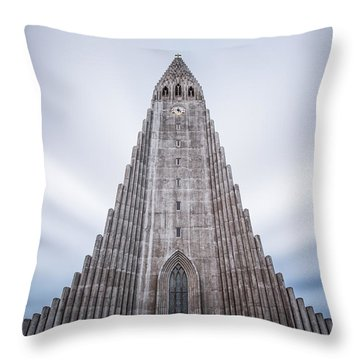 Hallgrimskirkja Cathedral Throw Pillow