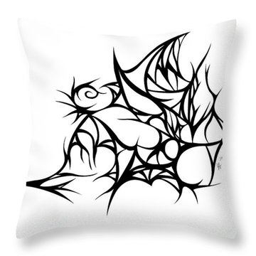 Hallow Web Throw Pillow