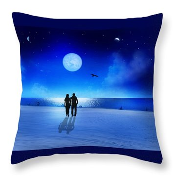 Night Blessings Throw Pillow by Bernd Hau
