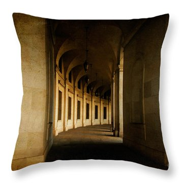Hallowed Hall Throw Pillow by Lois Bryan