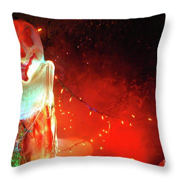 Throw Pillow featuring the photograph Halloween by Bill Thomson